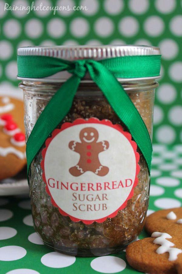 gingerbread sugar scrub Gingerbread Sugar Scrub + FREE Printable Gift Tag