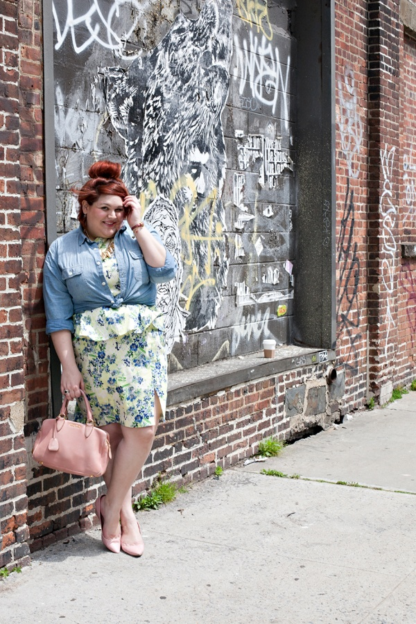 Another shot of the beautiful & stylish @Nicolette Mason as featured in @Glitter Guide. I can't wait to mix my denim & florals together this summer! {photographed by Alexandra Frumberg}