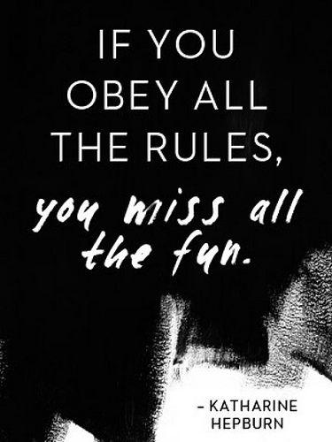 Kathrine Hepburn quote on fun