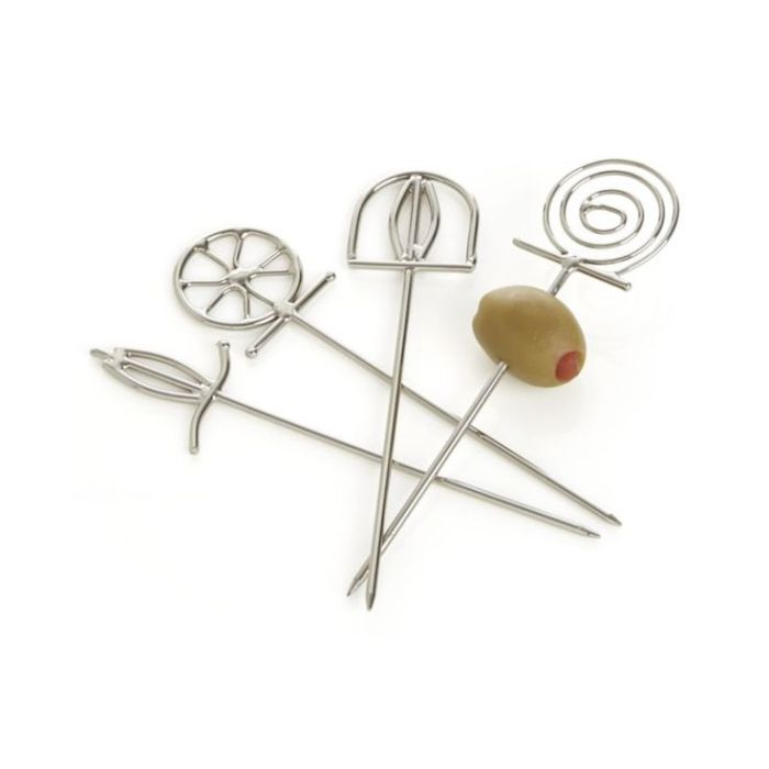 Set of 4 Finial Cocktail Picks  | Crate and Barrel