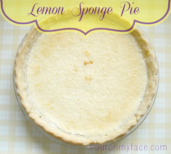 The Vintage Recipe Project: Lemon Sponge Pie
