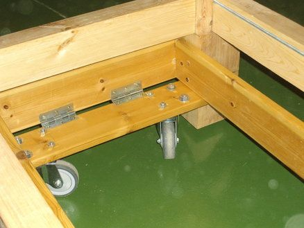 Retractable Wheels for Workbenches