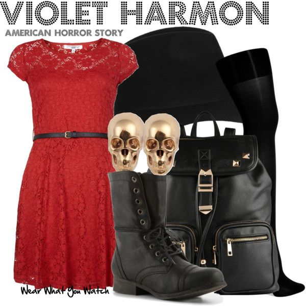 Inspired by Taissa Farmiga as Violet Harmon on American Horror Story: Murder House.
