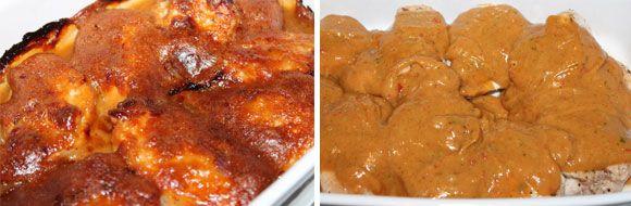 Hähnchenbrust-Medaillons mit Erdnuss-Chili Kruste