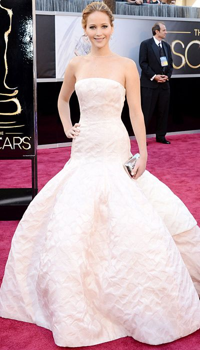 Red Carpet Arrivals for the Oscar's: Jennifer Lawrence in Dior Haute Couture, I just had to repin because she's amazing...