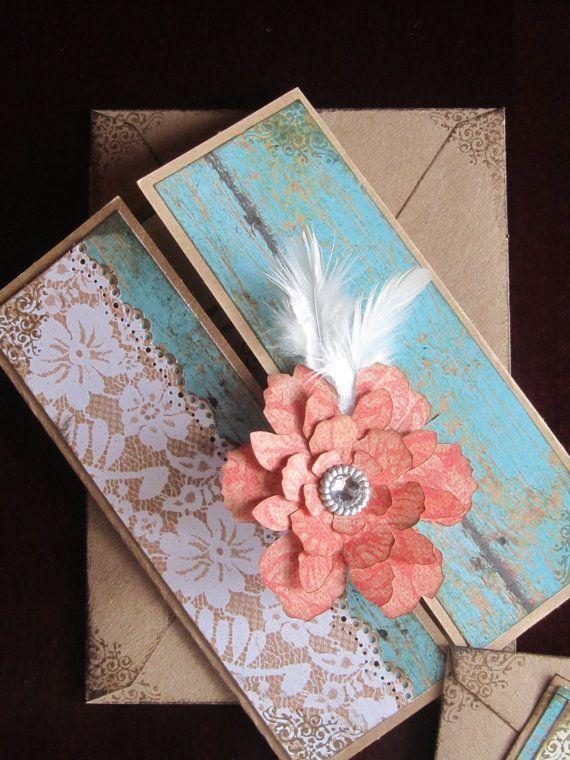 Paper Flower Wedding invitations- Paper Popies and Peonies on earlyivy.wordpress.com