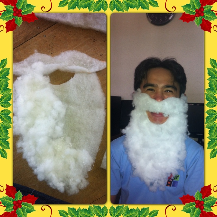 DIY Santas Beard Holidays Pinterest