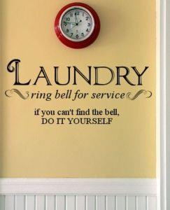 Laundry room.....