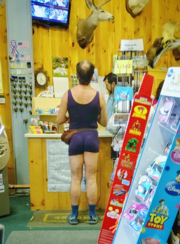 As rare as the Great White Buffalo: a purple unitard, fanny pack, and sandals with socks all in one. - Imgur