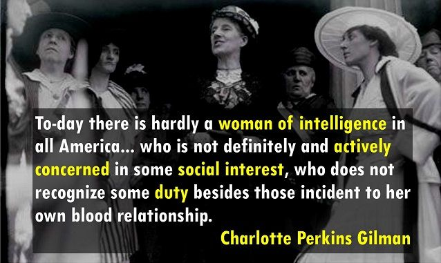 a comparison of the theories of emile durkheim and charlotte perkins gilman -durkheim 60) according to george ritzer, the sociological theories of many early sociologists bore an unmistakable religious imprint is this a true statement is this a true statement -true.