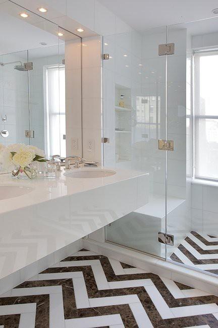 chevron marble floors - love this pattern
