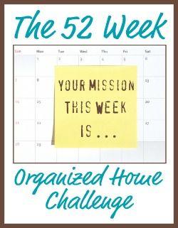 52 Week Organized House Challenge