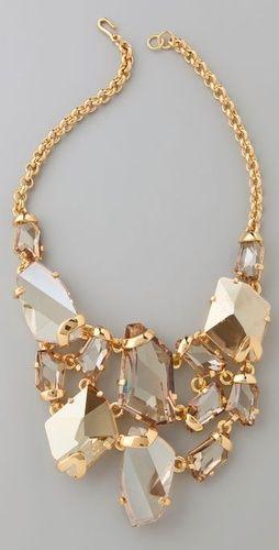 guld uttalande halsband
