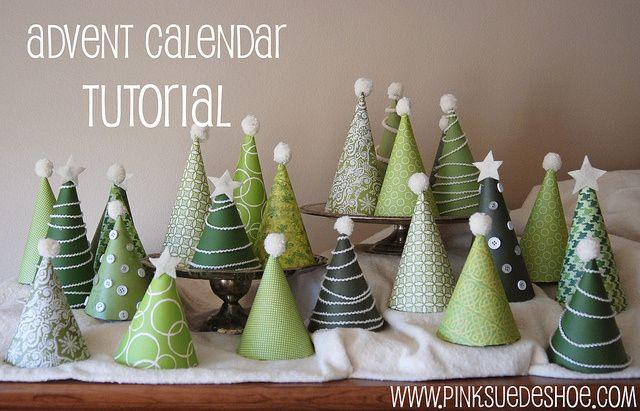 DIY Advent calendar  trees