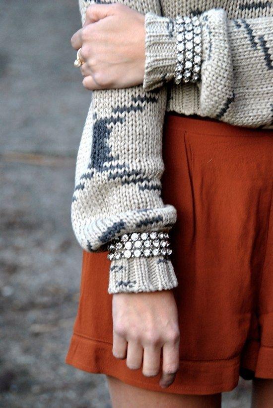 Bracelets over sleeves