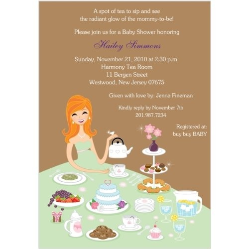 Baby Shower Tea Party Invitation Ideas About Our Company
