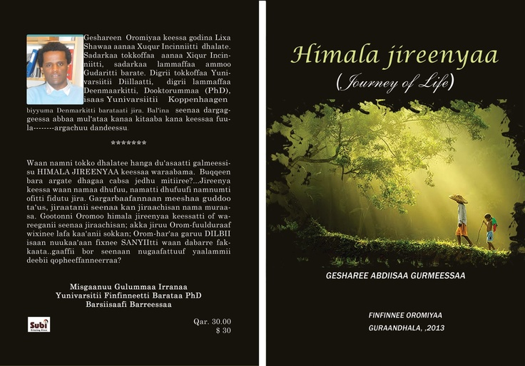 Creative (novel) writing in Oromo    Himala Jireenyaa, Journey of Life