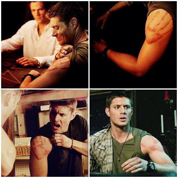 I love Castiel s handprint on Dean s arm. There's something so attractive about it...