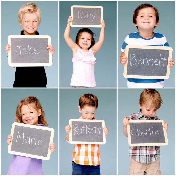 Leuk om de eerste schooldag/week te doen en de foto's dan in de klas op te hangen.