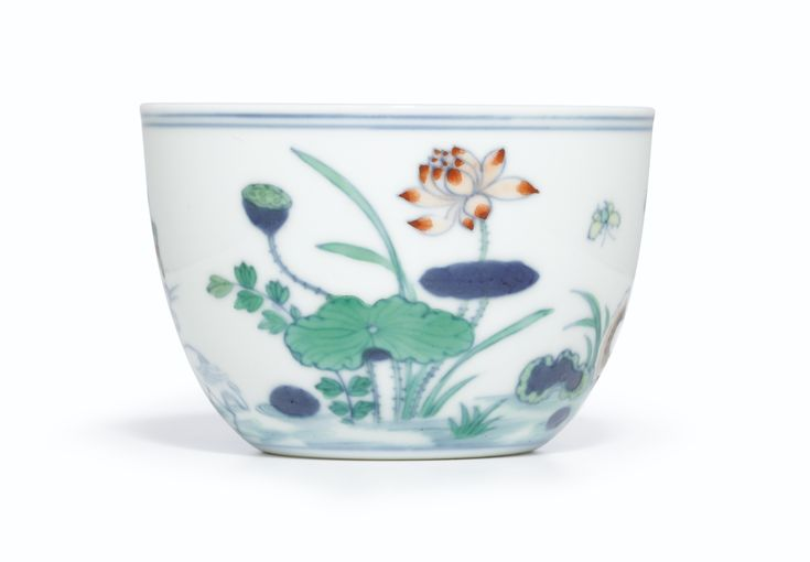 A RARE DOUCAI 'LOTUS POND' CUP<br>MARK AND PERIOD OF YONGZHENG | Lot | Sotheby's