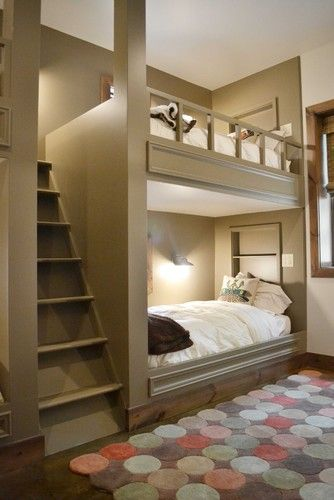 Boys built-in bunk bed pin