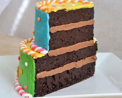 Beki Cooks Cake Blog: Half-Birthday Half-Cake