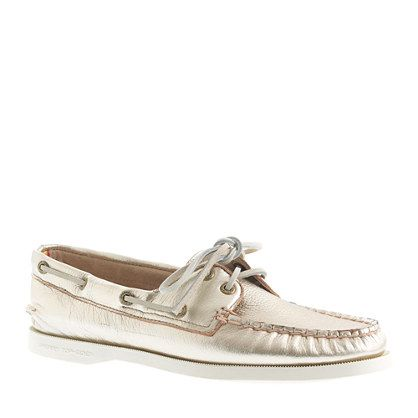 J.Crew - Sperry Top-Sider® for J.Crew Authentic Original 2-eye metallic boat shoes