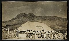 Citation: A convalescent and YMCA camp for survivors, Baghdad, Persia, between 1917 and 1919 / Harold Weston, photographer. Harold Weston pa...