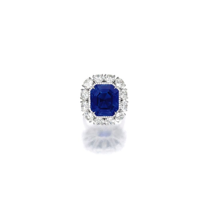 Exceptional and Very Rare Sapphire and Diamond Ring | Lot | Sotheby's