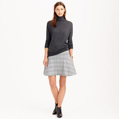 Cute, goes-with-everything skirt and by everything I mean the best part of Fall - boots!  J.Crew - Plaza skirt in glen plaid