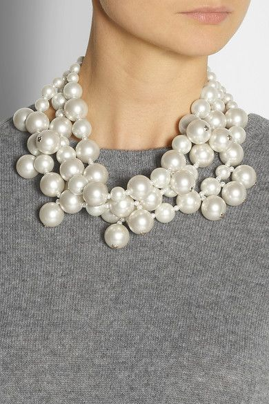 kenneth jay lane pearls // $115
