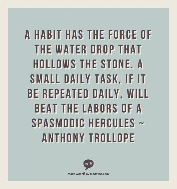 Anthony Trollope quote