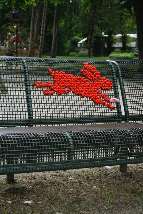 The red rabbit  - Street embroidery by ___Miss Cross Stitch