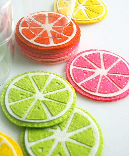 DIY citrus coasters