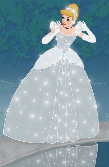 """Cinderella! This is what she is SUPPOSED to look like! The fact that they've change her for the """"new generations"""" means they have no respect for the original art and the artist that created one of the world's most beloved characters. She was loved throughout all these years as she was and always will be!!"""