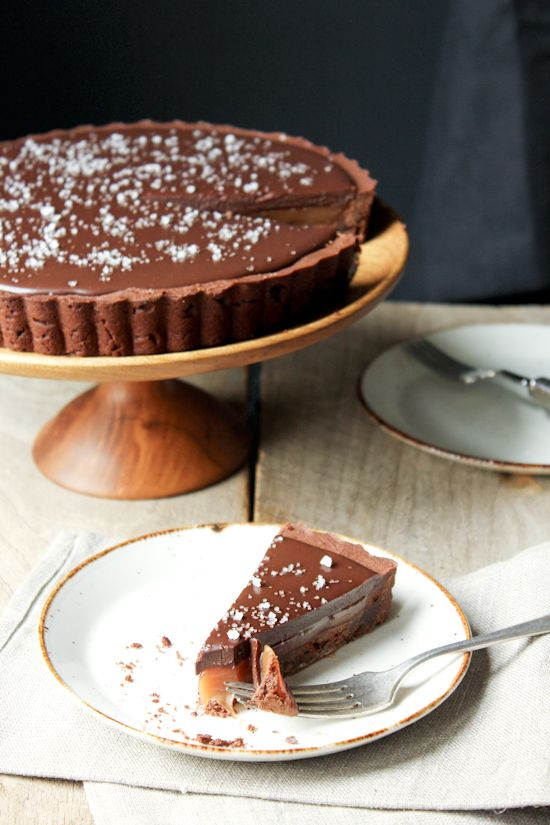 // salted caramel chocolate tart