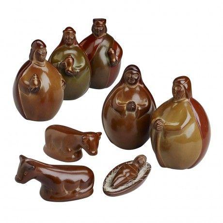 Peruvian Clay Nativity
