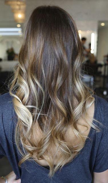 Ombre cabelo ..  Estou fazendo isso quando o meu cabelo fica tempo suficiente!