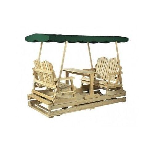 Patio Table Chair Glider Wood Cedar Garden Swing Lawn