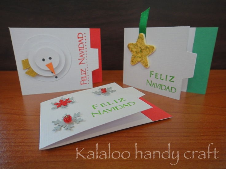 Christmas Card Kalaloo Handy Craft Pinterest