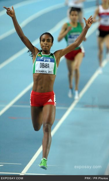 Oromo athlete:Genzebe Dibaba  1500m world Champion
