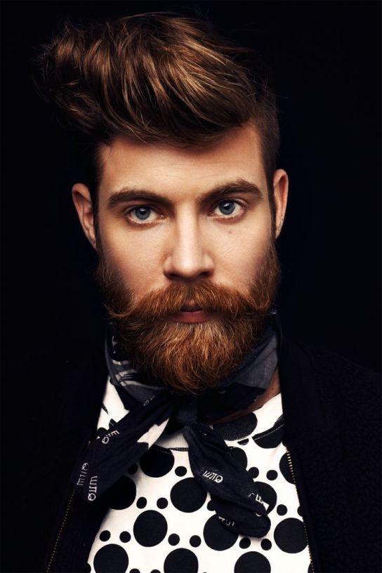 Barbe de hipster beau gosse