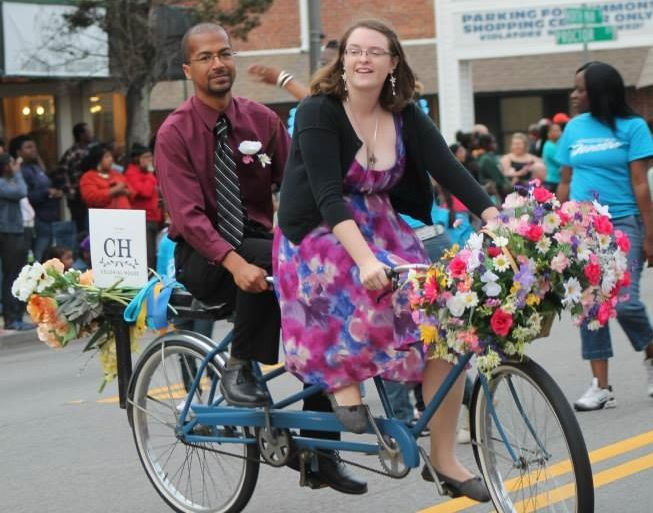 Love the tandem bike ride through downtown Statesboro to the Kiwanis Ogeechee Fair Parade. BEST NIGHT OF THE YEAR!