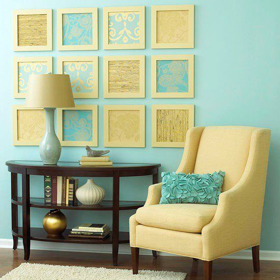 Need decor for your home? Frame wallpaper samples to create fun and inexpensive wall art! @Roma Moulding