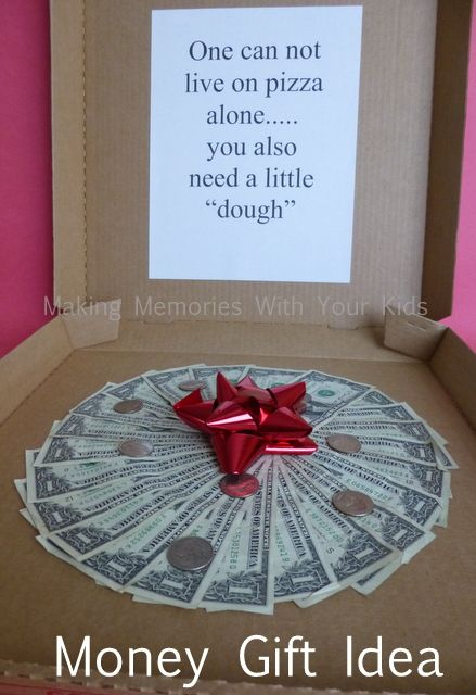 Money Gift Idea - fun gift idea for graduation, birthday or anytime! ....or for when someone is getting their first apartment.