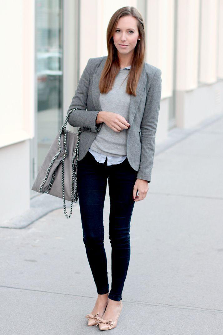 Grey Blazer Street Style