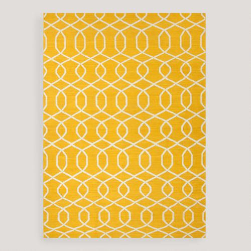 Yellow Pattern Rug Living Room Kitchen