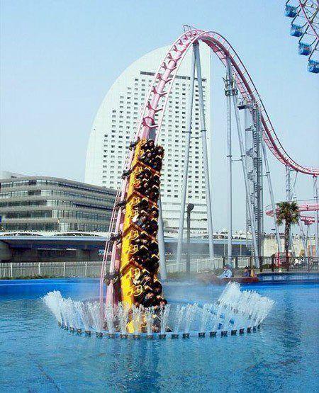 Underwater roller coaster in Japan!