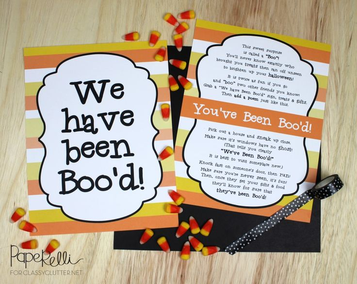 You've Been Boo'd Free Printable