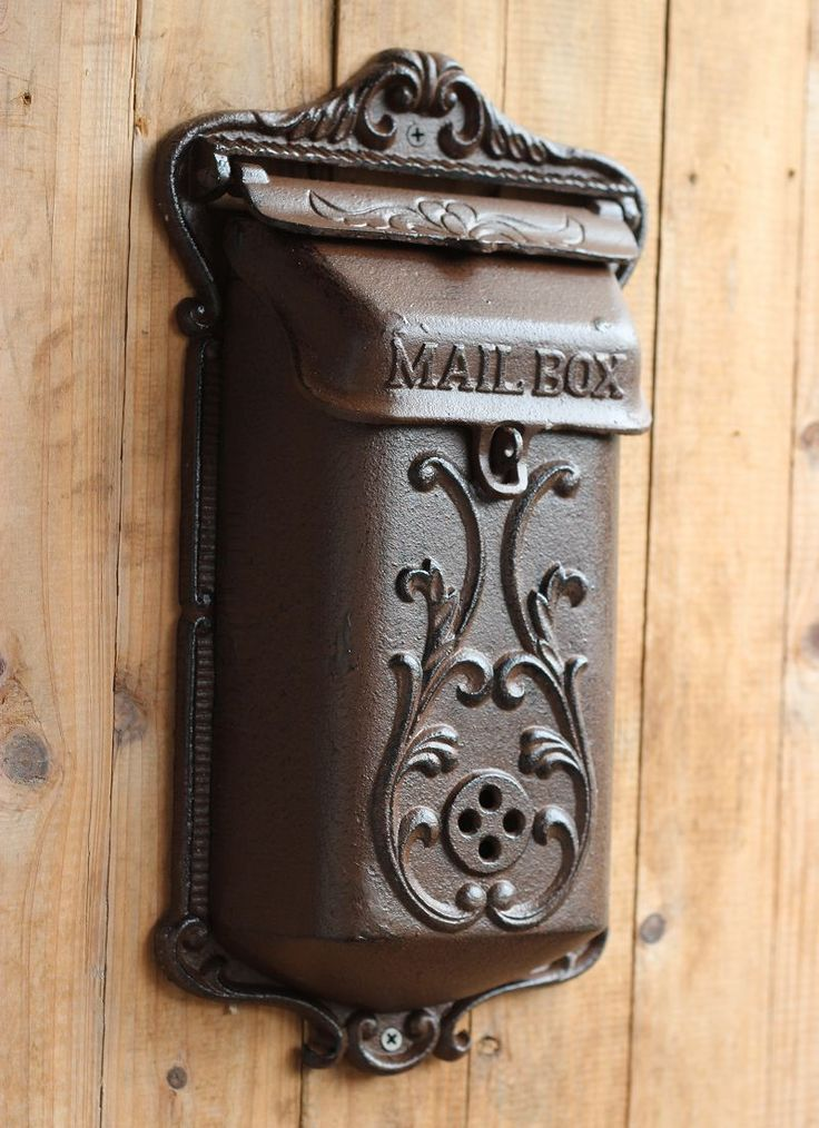 Vintage fashion iron mailbox pillar-box wrought iron decoration 1308 3 303,64 руб.
